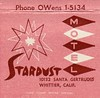 Stardust Motel Whittier, Calif. Matchbook 1 (hmdavid) Tags: vintage matchbook matchcover midcentury art illustration 1950s advertising stardust motel whittier