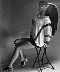 Vintage Tricia .1 jpg (neohypofilms) Tags: series vintage 120 medium format analog retro bw blackandwhite style fashion legs shoes clogs hair shadows light hippie 60s 70s film hasselblad girl model women female classic skirt tall long 2018