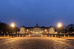 Münsteraner Schloss (Re Ca) Tags: blauestunde bluehour canon city eos6dmkii germany nrw nachtaufnahme night schloss westfalen münster muenster