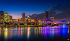 Brisbane City Lights (mark.iommi) Tags: brisbane storybridge dusk colour citylights reflections australia queensland brisbaneriver cityscape