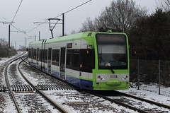 Croydon Tramlink 2536, Mitcham Junction 03/03/18 (TC60054) Tags: croydon london tramlink first tfl bombardier cr4000 snow tram tramway light rail railway metro