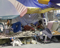 Sleeping on the Job (Beegee49) Tags: street market mother children resting vegetables stall bacolod city philippines