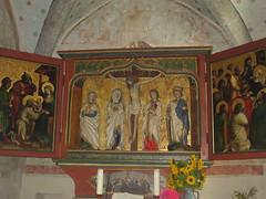 Scharenstetten St. Laurentius,gotischer Flügelaltar der Ulmer Schule (edelmauswaldgeist) Tags: flügelaltar gotik malerei fresken blumen schwaben