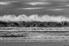 The Spray (JMFusco) Tags: blackandwhite wave beach canon islandbeachstatepark jerseyshore newjersey atlanticocean water ocean