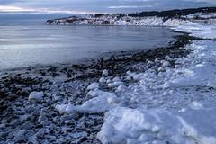 Percé Beach (Danny VB) Tags: percé plage winter hiver snow water eau canon 6d ocean atlantic atlantique glace ice neigesnow frozen foam mousse