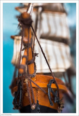 Go-To Book - HMM (John Penberthy LRPS) Tags: 105mm bow d750 johnpenberthy nikon anchor book bowsprit closeup macro macromondays model rigging sailing sails ship wood