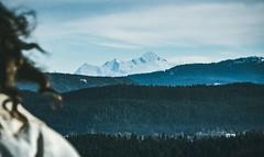 Mont-Blanc (happy.culteur) Tags: mountain montagne snow neige montblanc jura alpes france travel wild olympus omdem10markii blue girl voyage landscape paysage forest forêt trek tree arbre sky ciel nature