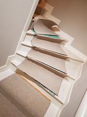 Cormar carpet - spiral stair runner
