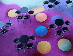 Crabs (studioferullo) Tags: abstract architecture art beauty bright building colorful colourful colors colours contrast dark design detail edge light metal minimalism perspective pattern pretty scene study texture tone world arizona tempe table chair circle