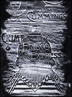 Book cover pencil rubbing