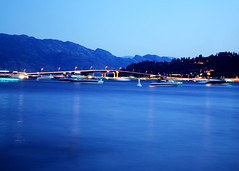 Blue Glass (Shannon Crane) Tags: blue water okanaganlake kelowna okanagan valley lake canada bc britishcolumbia twilight long exposure nikon d3100