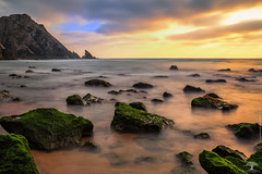 Adraga Beach (Adrega) Tags: ifttt 500px landscape sea sunset water nature coastline ocean twilight rocks horizon seascape dawn long exposure dusk idyllic dramatic sky over moody photograph pics