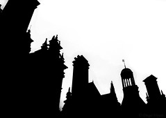 Shapes#2 (Voyen_Ras) Tags: shapes black white blackwhite mono monochrome lines straight perspective minimal photography travel sony life architecture explore dark winter freedom history amazing chambord flickr earth europe castle chateau silhouette art buildings sky