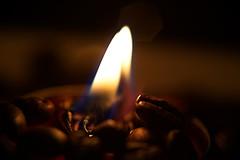 Flame of Coffee (Tanja-Milfoil) Tags: 280118 macromonday macromondays closeup 50mm lens makro flame candle happyday coffee roasting roasted kerze milfoil tanja 5300 nikon kaffeeröstung kaffeerösterei flamme