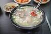 Ox Head Meat Rice Soup. (Kim Jin Ho) Tags: rice soup suwon kimchi soy sauce radish green onion korean