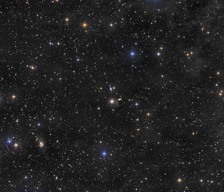 The full field with HCG 93, HCG 94, many other galaxies and integrated flux nebula