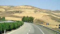 SICILIA (cannuccia) Tags: paesaggi landscape sicilia strade street giallo montimontagne frecce estate siepi curve virgiliocompany
