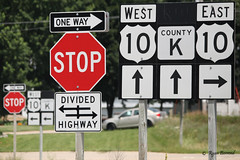 Signs, signs everywhere signs (ryanberrend) Tags: signs custer custerwisconsin portagecounty wisconsin stop highway road