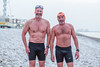 Bob & Rob of Brighton Swimming Club in the snow (lomokev) Tags: brighton england unitedkingdom swim swimming swimmers sport wildswimming snow portrait men man male person human beach canoneos5dmarkiii canoneos5dmark3 canon eos 5d file:name=1802075dmrk30507