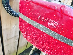 Also thoroughly christened the new @alpkit bag. Chilli with snowmelt speckles is a great colour scheme, no? (Foz_) Tags: instagram also thoroughly christened new alpkit bag chilli with snowmelt speckles is great colour scheme no