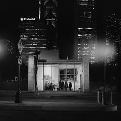 untitled-24-Edit (dvlmnkillatron) Tags: film yashicamat124 mediumformat 120 analog cinestill 800 pushed 3200 selfdeveloped square 6x6 skyline chicago bw prudential elevator