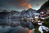 Hallstatt Sunset (hapulcu) Tags: ֳterreich winter lake lac invierno hiver oostenrijk ober泴erreich autriche austrija austria hallstatt österreich oberösterreich halstatt