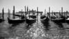 Sparkling Morning (Tom Levold (www.levold.de/photosphere)) Tags: venice xpro2 xf18135mm venedig fuji venezia wasser gondeln bw water gondolas cityscape sw