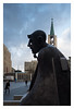 Bergmann (GMM V) Tags: gelsenkirchn skulptur bergmann innenstadt leicax2 farbe denkmal