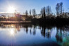 morning. sunshine (Paul Wrights Reserved) Tags: lake sun suh sunshine sunburst light silhouette composition water reflection reflections bright flare