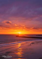 Red dawn .. (Mike Ridley.) Tags: sunrise roker rokerpier redsky red predawn nature northeastcoast northeastengland sunderland sonya7r2 sony2470fegm mikeridley clouds pier