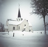 Vintage camera photography (steffos1986) Tags: vintage church 120 120film mediumformat kodak kodakektar old agfa agfajesolette landscape nature squareformat winter snow view noruega norge norwegen norway explore graveyard