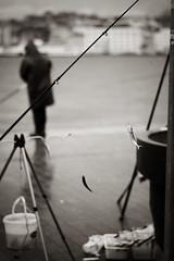 Hook in Mouth (Erman Peremeci) Tags: fisherman sonya6500 badweather karaköy istanbul scenery line fishing seaside sea people sky sonnartfe55mmf18za fish hook