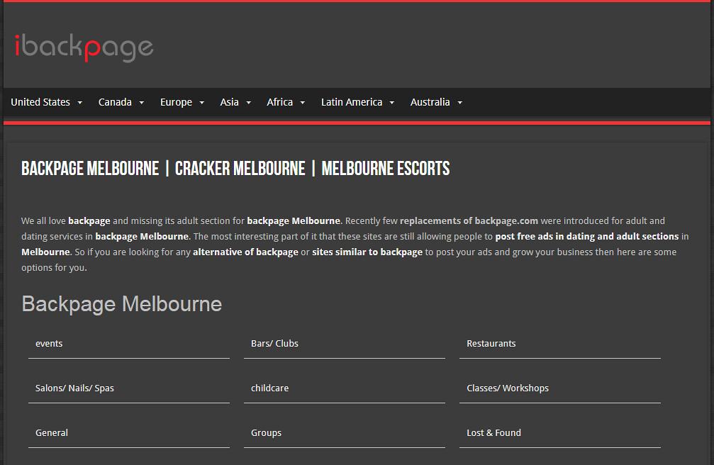 back page escorts melbourne