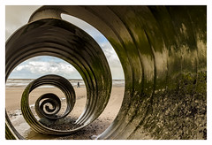 Mary's Shell inside (stephenballam) Tags: sea shell sand canon eos golden walking inside green yellow beach sculpture clouds colour spiral