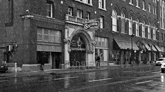 Southern Theatre (ramseybuckeye) Tags: great southern theatre westin hotel columbus ohio main high streets pentax art black white snow wet