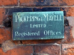 Pickering & Mayell - Old Signs - 2 (the justified sinner) Tags: justifiedsinner birmingham westmidlandspanasonic minolta md telerokkor 135 28 gx7 jewelleryquarter oldsign signs pickeringmayell 42 corrosion copper verdigris