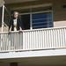 Me on my 'resident tutors' balcony.  May 1958, University Female Hall