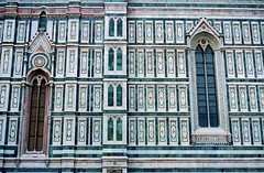 off center symmetry (Dylan H, from the road) Tags: europe italy italia tuscana tuscany florence firenze duomo church color architecture geometry detail rennaissance