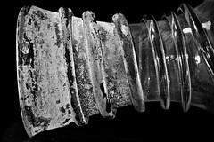 Neck of a small Roman glass vase (Phancurio) Tags: antiquity roman glass vase