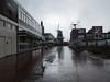 Delfzijl Poststraat (Jeroen Hillenga) Tags: delfzijl groningen netherlands nederland stad straat street streetwise regen rain molen windmill windmolen regenachtig rainy