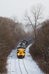 Fs in the Winter (Jake Branson) Tags: train railroad locomotive emd fp9 kjry keokuk junction railway illinois il marietta snow