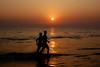 Sunset in Cox's Bazar Sea Beach in Bangladesh. (sajjadnayan) Tags: tourist visitors man sugandhabeach men women beachwoman water beautiful blue dark river island nature people photography sea sky sun sunrise sunset tour travel wonderful view inani bayofbengal color colour diverse amazing asia southasia indiansubcontinent bangladesh