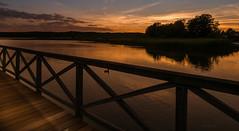 Sonnenuntergang - Sunset (achim-51) Tags: sonnenuntergang sunset himmel steg wasser gras holz spiegelung reflection dmcg5 panasonic lumix