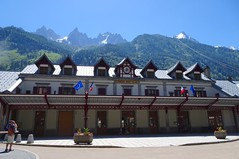 Railway station Chamonix Mont Blanc.  Gare Chamonix. (elsa11) Tags: chamonix montblancmassif montblanc railway railwaystation trainstation gare hautesavoie rhonealps alpen alps mountains france frankrijk