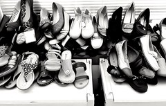 A Whole Heap of Shoes - HSoS (11Jewels) Tags: samsung blackandwhite shoes smileonsaturday stacked