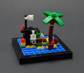 Miniscale Shipwreck Island, set 6260