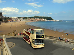 Scarborough & District Sea Front Service 109 (miledorcha) Tags: east yorkshire motor services eyms group scarborough district 109 sea front bus service local promenade open top topper bowtie buses holidays tourist daytripper coast north south bay regular 883 897eyx x591egk volvo b7tl plaxton president london central transport pvl191 psv pcv summer postcard view