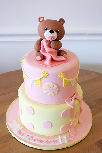 Baby Teddy Bear Baby Cake
