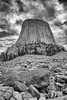 Dark morning at Devil's Tower (repete7) Tags: devilstowernationalmonument wyoming usa niksilverefexpro bw blackandwhite canon6d canon24105