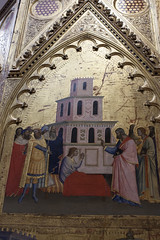 Saint Matthew raises King Aeglippus' son - Saint Matthew and stories of his life by Orcagna and Jacopo di Cione - Uffizi - Florence (rfzappala) Tags: europe europa italy italia tuscany toscana 2016 florence firenze uffizi gallery museum orcagna jacopo di cione saint matthew